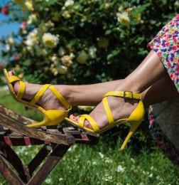 Sandali colorati tacco alto luca calzature milano estore ecommerce shoes milan expo