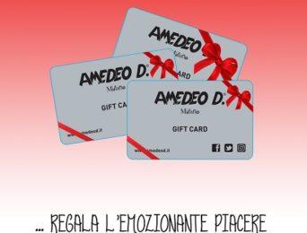 Arriva la Gift Card Amedeo D. A Natale regala l'emozione di fare shopping!